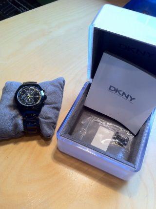 Dkny York Armbanduhr Schwarz,  Nie Getragen Uhr Mit Ovp,  Neuwertig Bild