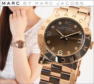 Marc Jacobs Mbm3167 Uhr Watch Mit Cristallen Rosegold Armbanduhr Ovp 275 Bild