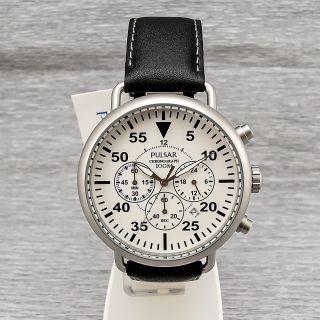 Pulsar Pt3473x1 Stahl Quarz Chronograph Herrenuhr 10 Bar Datum Herrenarmbanduhr Bild
