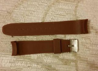 Silikon Unisex Damen Herren Uhren Armband Braun Bild