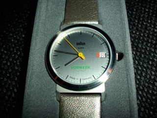 Braun Armbanduhr Aw 22 - Type 3 812 Silver - - Vorwerk Edition - - Lederarmband Bild