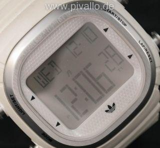 Adidas Seoul Herrenuhr / Damenuhr / Uhr Silikon Weiß Silber Digital Adh2120 Bild