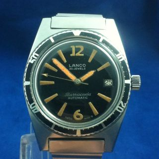 Rare Lanco Barracuda Diver 30 Jewels Cal.  1146 Bild