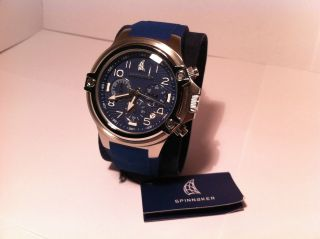 Spinnaker Forestay Chronograph Sp - 5010 - 03 Segeluhr In Blau Silber Ovp Bild