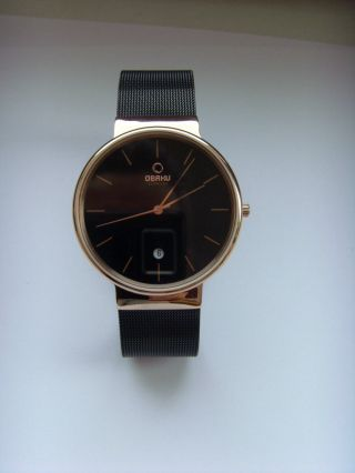 Obaku Harmony Armbanduhr V153gdvbmb Dänisches Design Milanaiseband Rosé Bild