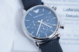 ღ Emporio Armani Herren Uhr Ar1736 Zertifikat Geschenk Weihnachten Bild