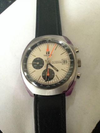 Tissot Navigator Automatic 45501 Vintage Chronograph,  Tachimeter Bild