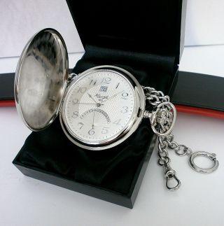 Kienzle Taschenuhr,  Savonette/sprungdeckel & Uhrenkette Bild