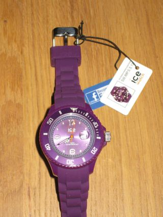 Ice Watch Small Armbanduhr Uhr Unisex (sw.  Che.  U.  S.  12) Lila Purple Ovp Bild