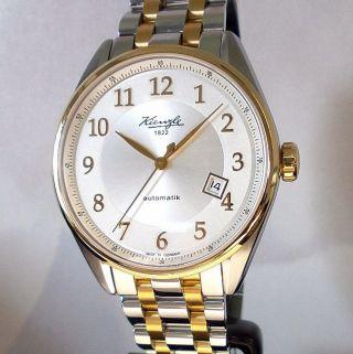 Kienzle Herrenuhr Automatik Metall Armband,  Bicolor Saphirglas 5barw.  R. Bild