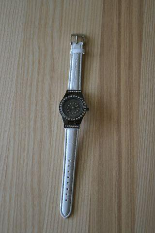 Damenuhr Weiß - Anthrazit Damen Uhr Armbanduhr Mädchen Kinder Bild