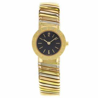 Bvlgari Tubogas Bb192tywp - 18k Dreifarbige Gold Damen Uhr Bild