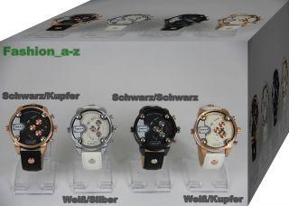 Uhr Armbanduhr Quarzuhr Damen Herren Kupfer - Silber - Schwarz - Farbene Uhren Bild