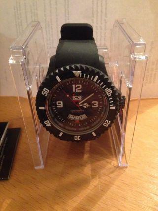 Ice - Watch Extra Big Ice - Surf Herren Armbanduhr Schwarz Silikonband Neu&ovp Bild