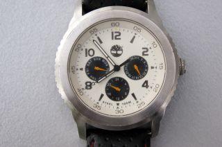 Timberland Uhr 85076g Armbanduhr Lederband 100 M Wasserdicht - Neue Batterie Bild