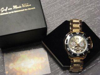 Graf Von Monte Wehro Kentucky Gold Ungetragen Uhr Automatik Bild