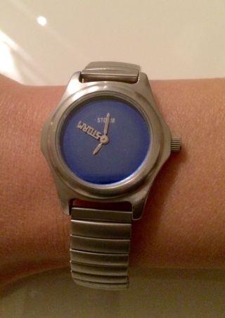 Storm Armbanduhr,  Edelstahl,  Thunder Lady,  Blau,  Sehr Edel Bild