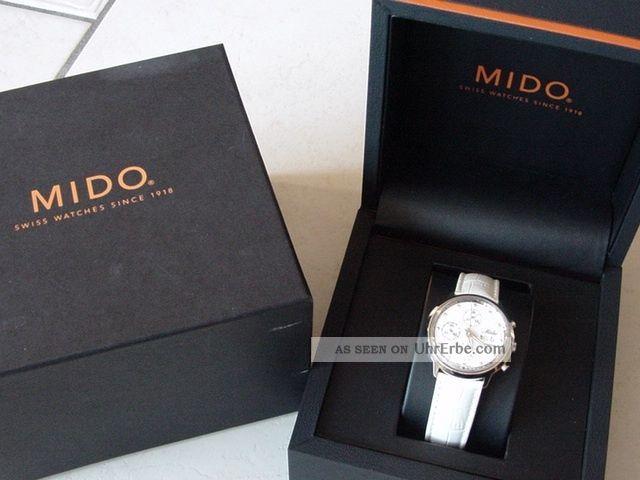Rarität Mido Ocean Star Commander Ice Perlmutt Zifferblatt Diamanten Fancy Weiss Armbanduhren Bild