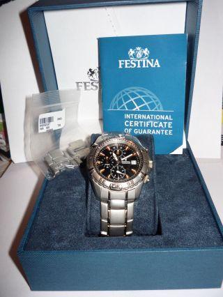 Schöne Festina Herren Armbanduhr Chronograph F16169/a In Ovp Bild