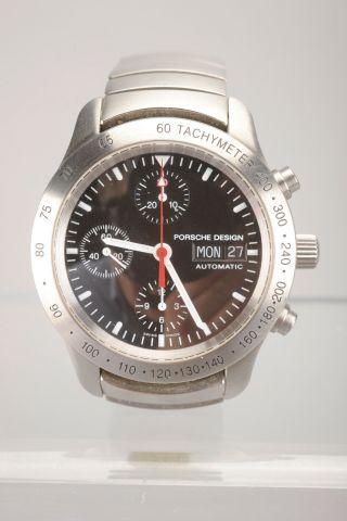 Armbanduhr Porsche Design Modell - Nr 6605.  41 Mit Karton Und Unterlagen Bild