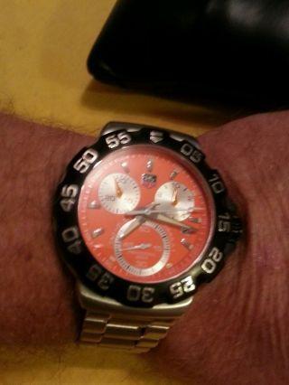 Tag Heuer Cah 1113 Orange Lewis Hamiton Mclaren Edition Uhr (watches) Formula 1 Bild