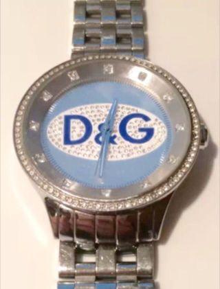 D&g Dolce Gabbana Unisex Uhr Watch Prime Time Big Silber Blau Ovp Bild