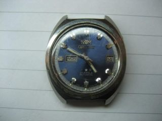 Orient 3 - Star 21 Jewels Automatic Automatik Armbanduhr Blau Vintage Bild