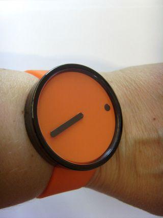 Rosendahl 43374 Picto Watch Orange Uhr Durchmesser 40 Mm Danish Design Bild