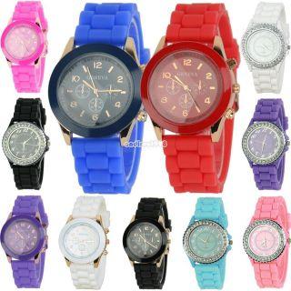 Silikon Uhr Armbanduhr Watch Unisex Damen Herren Quarz Jelly Uhren Bunte Mode Bild