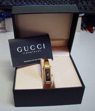Neuw.  - Zierliche - Gucci 1500 - Damenuhr Aus Edelstahl,  Papiere Und Box Bild