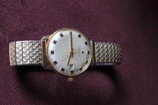 Junghans Uhr Automatik Datumsanzeige 585er Gold Mit Flex - Armband Funktioniert Bild