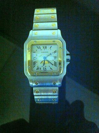 Cartier Santos Mondphase - Stahl / Gold Bild