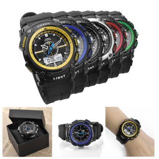 2013 Ohsen Sportuhr Digital Uhr Alarm Chrono Silikon Armbanduhr Weckuhr Mit Etui Bild