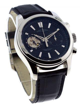Armand Nicolet L07 Limited Edition Stahl Chrono Uhr Schwarz 9649a - Nr - P964nr2 Bild