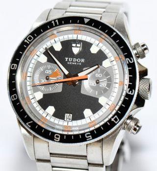 Tudor Heritage Monte Carlo 2011 Stahl Uhr Ref.  70330n Papiere Box Bild