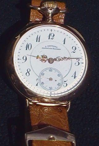 1880 Er Rarität Glashuette Julius Assmann Glashütte Gold Bild