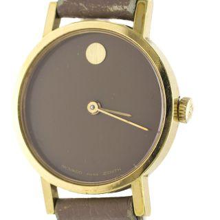 Armbanduhr Damen Movado Zenith Bewegung Schweiz Windung Golden Bild