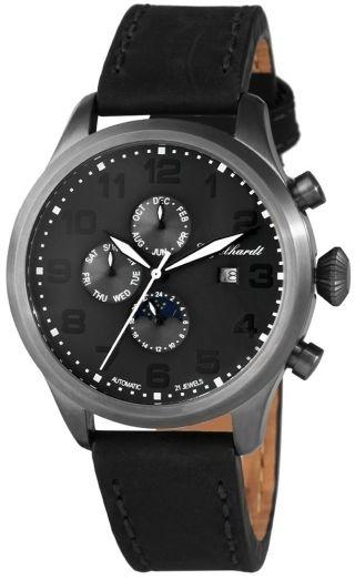 Ø46mm Engelhardt Uhr Automatikuhr,  Anthrazit Gehäuse & Zifferblatt,  389521529002 Bild
