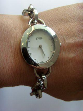 Storm London Uhr Watch Pixie Silver Stormuhr Damenuhr Metallband Charm Bild