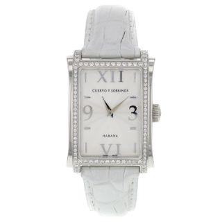 Diamanten Uhr Cuervo Y Sobrinos Habana Prominente A1010.  1agq - S2 Unisex Bild