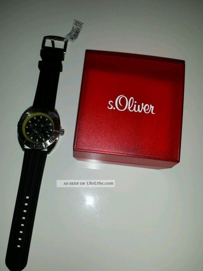 S Oliver Herrenuhr Armbanduhren Bild