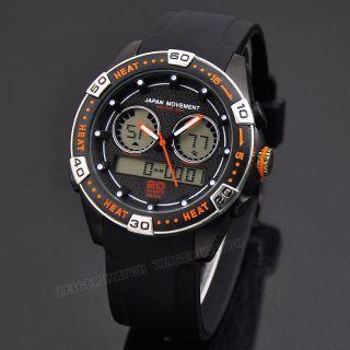 Herren Quarz Analog Digital Uhr Sport Armbanduhr Datum Alarm Stopp Chronograph Bild