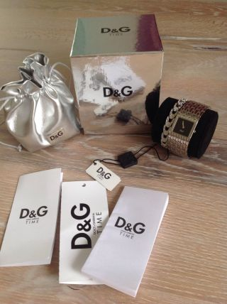 D&g Dolce & Gabbana Damen Uhr Silber Strass Vp 265€ Bild