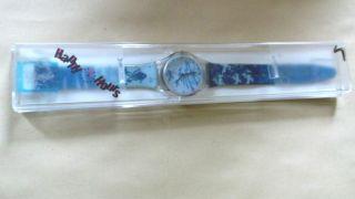 Trendige Uhr Von Cmi,  Happy Hours,  Blautöne Mit Originalverpackung Bild