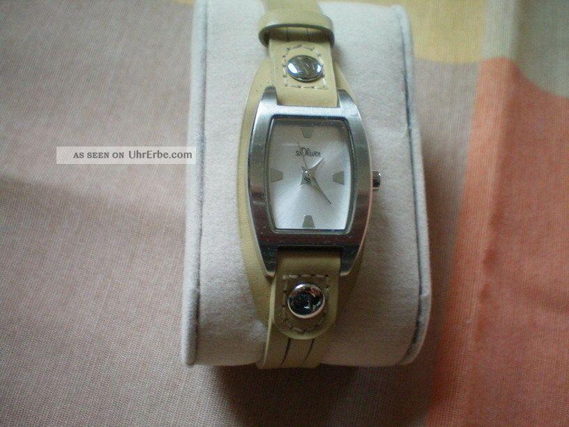 ♥ ♛ S.  Oliver Armbanduhr In Beige ♛ ♥ Armbanduhren Bild