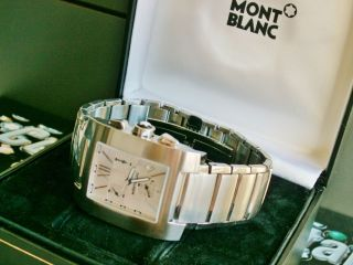 Montblanc Profile Xl,  Stainless Steel Chronograph,  High Tech Quarz,  Mit Box Bild