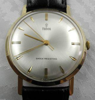 Tudor 585er Gelbgold Herrenuhr Uhr Armbanduhr Bild