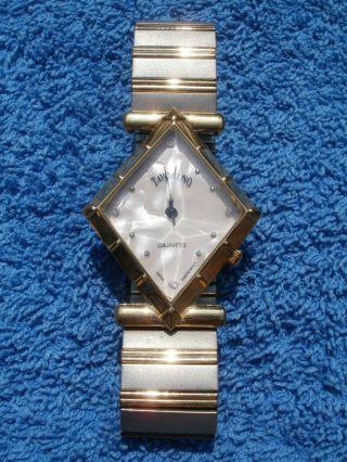 Neue Armbanduhr,  Rosanes Perlmutt Ziffernblatt/silber/ Goldenes Armband,  Quartz Bild