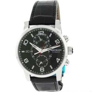 Herren Armbanduhr Montblanc Timewalker Flyback 7175 Edelstahl Automatisch Bild