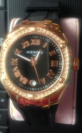Kienzle Herren O.  Damen - Armbanduhr Xl Analog Silikon Schwarz Bild